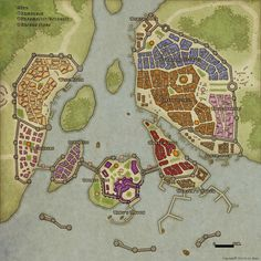 Hey, I'm new to this page, and I love creating maps and worlds. Here's an example of my latest city-map. What' you think?