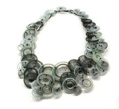 Erica Rosenfeld Sliced glass necklace. Gallery Lulo.