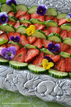 Spring Strawberry & Cucumber Salad