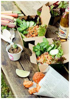 Crunchy Rice Salad (Lao Naem)