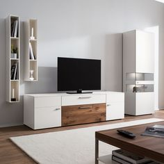 Highboard Grau Matt Trendy Wonzimmer Set Tvlowboard Sideboard Und