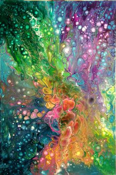 Acrylic Pouring ... BTW, check out some cool art here http://jeremy-aiyadurai.pixels.com/