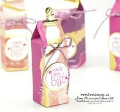 Stampin' Up! #1 Demonstrator Pootles - How to make 4 boxes from 1 sheet of Painted With Love Paper