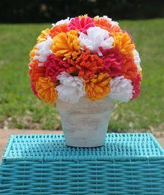 passo a passo arranjo flores feltro decoracao casa festa aniversario cha de bebe  casamento batizado (3)