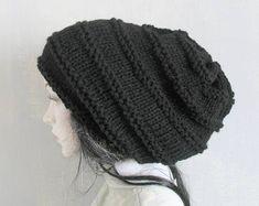 0de2f3cc7f2 Crochet Knitted dreadlock hat beanie slouchy slouch hat dreadlock dread hat  tam dreadies extra slouc Crochet