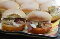 Turkey, Bacon, Ranch Sliders with Blue Cheese   Tasty Kitchen: A Happy Recipe Community!
