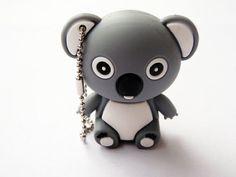 Cute Grey Koala Bear Animal 4gb Usb Flash Drive