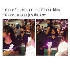 Minho loves EXO too lmao