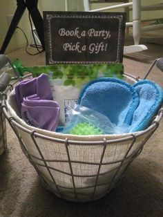 Booking Basket for Norwex Parties www.rebekahkinnard.norwex.biz