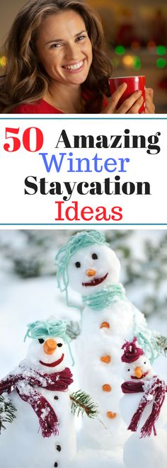50 Amazing Winter Staycation Ideas Spring Break, Montana, Winter Hacks, Winter Tips, Winter Ideas, Home Decor Baskets, Things To Do At Home, Happy 50th, Budget