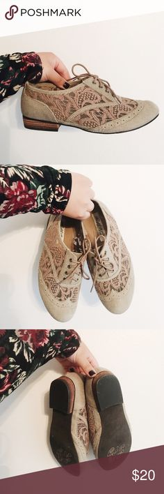 Lace Oxford Shoes These are gently used, only worn twice. Feel free to make an offer! Shoes