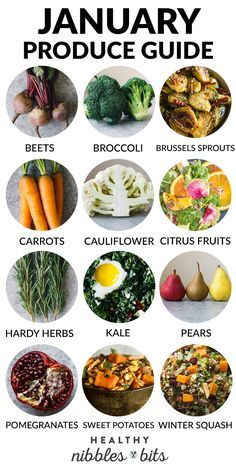 January Produce Guide - fruits and vegetables that are in season during January + recipe ideas for the produce! healthy food What to Cook in January: A Produce Guide In Season Produce, Fruit In Season, Winter Vegetables, Fruits And Veggies, Healthy Vegetables, Clean Eating, Healthy Eating, Healthy Food, Healthy Meals