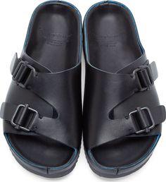 Officine Creative Black Slip-On Sandals