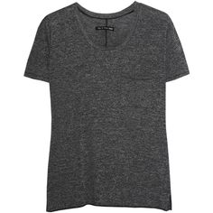 Rag & bone The Pocket Tee jersey T-shirt ($58) ❤ liked on Polyvore featuring tops, t-shirts, shirts, rag & bone, grey, pocket shirt, gray t shirt, jersey knit t shirt, jersey shirts and jersey t shirts