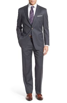 Hart Schaffner Marx New York Classic Fit Stripe Wool Suit available at #Nordstrom