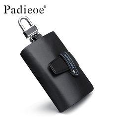 Padieoe 2016 Genuine Cow Leather Car Wallet Multi Function Key Case Fashion Housekeeper Holders 6 Key Rings Car Key Bag Small