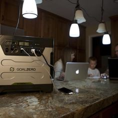 We need one of these at our house.  They're AWESOME!!  Goal Zero Yeti 1250 Solar Generator.