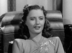 "Ball Of Fire (1941) Barbara Stanwyk ...""Yes, I love him.  I love him because he's the kind of a guy that gets drunk on a glass of buttermilk. And I love the way he blushes right up over his ears. I love him because he doesn't know how to kiss, the jerk. I love him, Joe. That's what I'm tryin' to tell you. I'll never see him again, but I'm not gonna marry you. Not if you tie a ton of cement around my neck and throw me into the East River like you did all the others."""