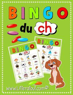 Un classique! Jeu de bingo au cours duquel ils écoutent, lisent et identifient des mots comportant le son /ch/.