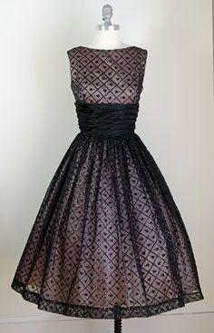 Vintage evening dress, 1950's