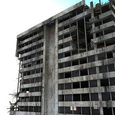 Ruined Building - Destroyed Skyscraper