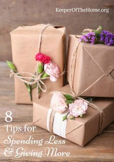 I discovered that gift-giving can be done simply without spending a bunch of money. Here's 8 tips to apply to your own gift giving.