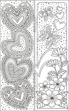 8 Coloring Bookmarks with Hearts- 8 Coloring Bookmarks with Hearts 8 designs coloring bookmarks 8 Coloring Bookmarks with Hearts- 8 Coloring Bookmarks with Hearts 8 designs coloring bookmarks Donna Jones Valentines 8 nbsp hellip day gifts for him donut Food Coloring Pages, Printable Coloring Pages, Coloring Sheets, Coloring Books, Heart Coloring Pages, Paper Bookmarks, Bookmarks To Color, Handmade Bookmarks, Free Adult Coloring