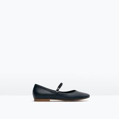 ZARA - KIDS - LEATHER BALLERINAS WITH ANKLE STRAP