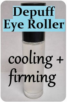 DIY Anti-Puff Eye Roller (Cooling, Firming + Anti-Aging) – Homemade Recipe for Under Eye Circles and Bags. When I heard about Anti-Puff Eye . Homemade Skin Care, Diy Skin Care, Homemade Beauty, Homemade Facials, Anti Aging Cream, Anti Aging Skin Care, Bb Beauty, Hair Care, Eye Circles
