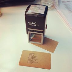 Nuestras nuevas tarjetas de visita handmade