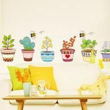 LESIGN - Potted Plant Wall Sticker