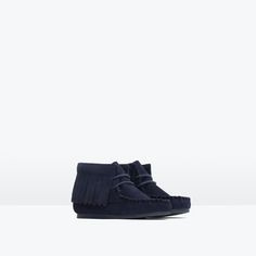 Image 2 of LEATHER BOOTIES WITH FRINGE from Zara