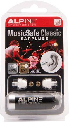 Alpine Hearing Protection MusicSafe Classic Earplugs for ...