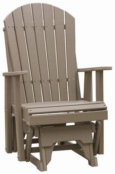 outdoor adirondack glider chairs with constructed of poly wood lumber and stainless steel hardware to provide a lifetime of comfort and durability