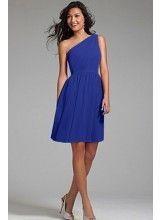 Chiffon Cobalt Blue Bridesmaid Dresses TET112