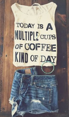 Multiple Cups Coffee Tank Iwish they made this foe guys! Summer Outfits, Casual Outfits, Cute Outfits, Fashion Outfits, Fashion Styles, Fashion Ideas, Womens Fashion, Look Cool, Dress Me Up