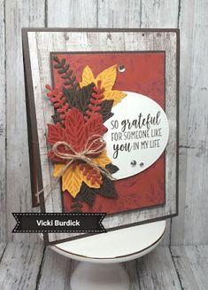 Its a Stamp Thing: So Grateful Diy Thanksgiving Cards, Fall Cards, Halloween Cards, Fall Halloween, Paper Cards, Diy Cards, Karten Diy, Leaf Cards, Stamping Up Cards