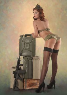 Military babe :)