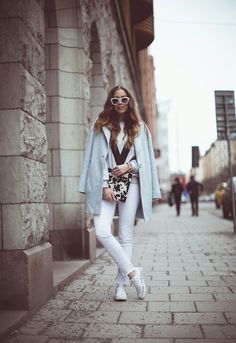 All white with converse