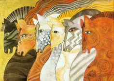 """""""Mythical Horses"""" par Laurel Burch"""