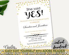 Invitation Template Bridal Shower Invitation Template Gold Confetti Bridal Shower Invitation Template Bridal Shower Gold Confetti CZXE5 #bridalshower #bride-to-be #bridetobe