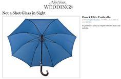 Davek in New York Magazine Weddings. Not a shot glass in sight