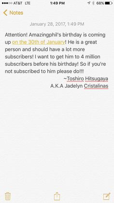 Please help Amazingphil get to 4 million subscribers!! I'm going to pin this on pretty much all of my boards.