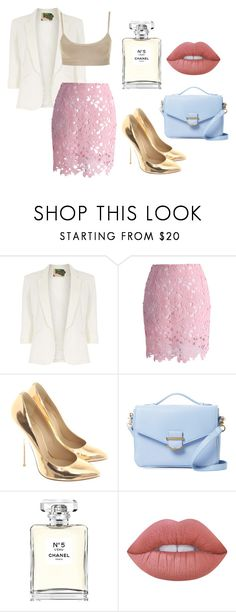 """""""Sin título #685"""" by malvinacabj on Polyvore featuring moda, Jolie Moi, Chicwish, Giuseppe Zanotti, Cynthia Rowley, Chanel y Lime Crime"""