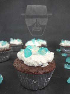 """""""Blue Crystal"""" Cupcakes Inspired by Breaking Bad #vegan"""
