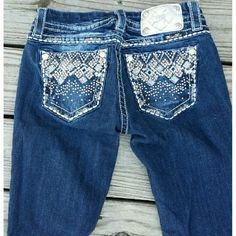 Miss Me Capris ?Make Offer These are practically new! No missing bling! My loss is your gain unless you want to spend what I did. I'm 5'5 and they are at my ankles. Inseam 26 inches Miss Me Jeans Ankle & Cropped