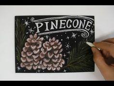 木の実で楽しむチョークアート(chalkart,chalklettering)