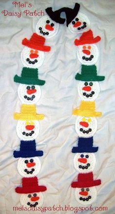 Crocheting: Snowman Scarf