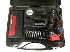 #ad NuVending Multifunction Jump Starter kit will help you be prepared for whatever happens. It includes jump starter, air pump, flashlight, and more. #giveaway #ad