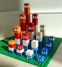 There are various ways to make a Multiplication Tower. This site shows examples using beads, Legos, and Minecraft! There are various ways to make a Multiplication Tower. This site shows examples using beads, Legos, and Minecraft! Math For Kids, Fun Math, Math Games, Math Activities, Math Art, Counting Games, Math Manipulatives, Math Multiplication, World Maths Day